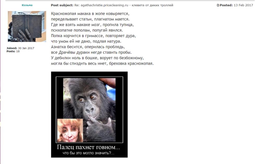 agathachristie.pricecleaning.ru - клеветники и мошенники,  стихи про дебилов 1.png