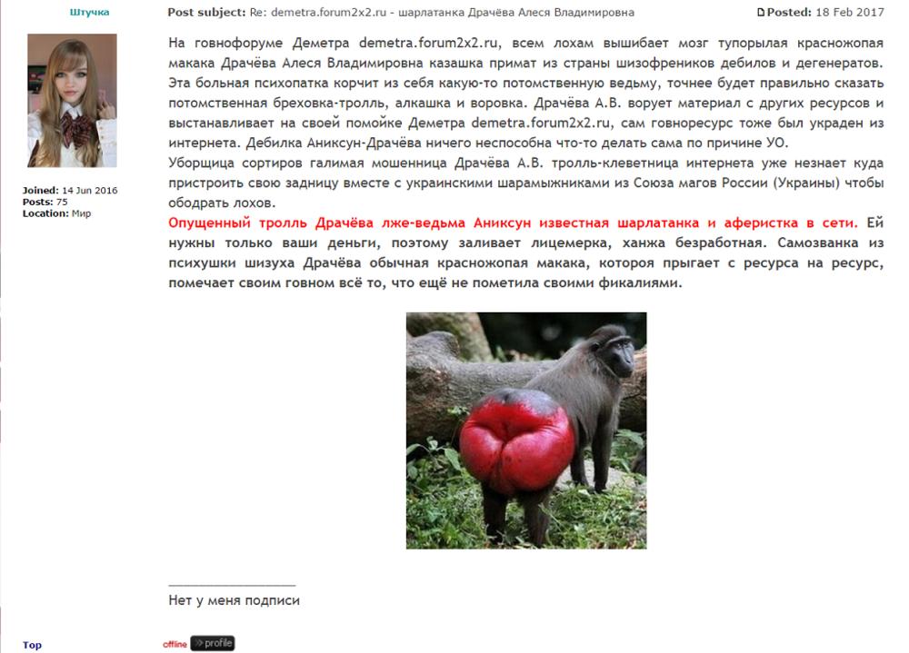 demetra.forum2x2.ru - шарлатанка Драчёва Алеся Владимировна 2.png